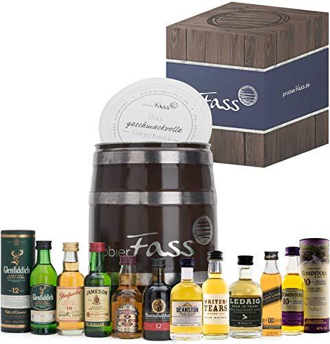 probierFass Whisky Tasting Probierset, Geschenk für Männer, Whisky Geschenk Set für Bruder, Vater oder Opa;...