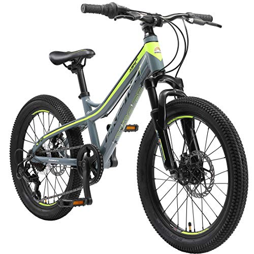 BIKESTAR Alu Mountainbike Jugendfahrrad 20 Zoll ab 6-9 Jahre Hardtail | 7 Gang Shimano Schaltung,...