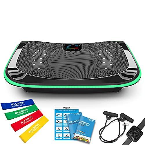 4D Vibrationsplatte – Leistungsstark mit 3 leisen Motoren | Leicht zu Bedienen | Magnetfeldtherapie Massage...