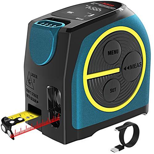 Massband Laser Entfernungsmesser, DTAPE Entfernungsmesser Digital,Maßband Laser Messgerät Entfernung mit LCD...