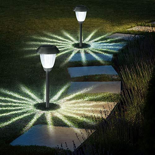 4 Stück Solarleuchte Garten Außen,OxyLED IP44 Wasserdicht Solar Gartenleuchte Wasserdicht Solarlampe für...