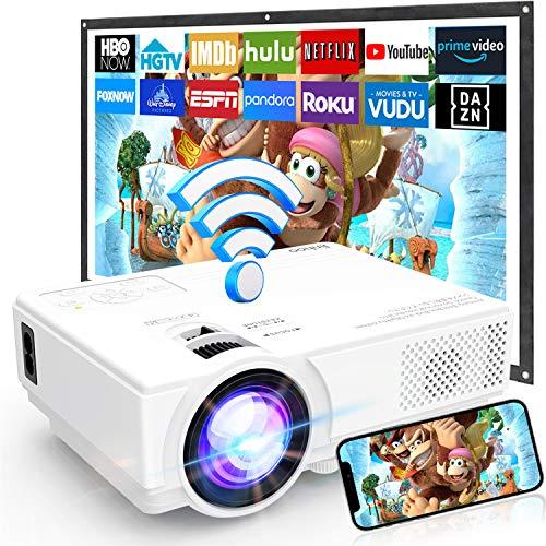 [WiFi Beamer] Beamer Full HD M8-TPA, Mini Beamer 6000 Lumens, Video Beamer Unterstützt 1080P Full HD,...