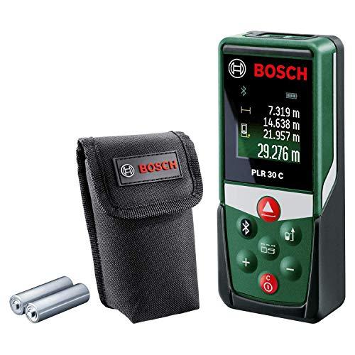 Bosch Entfernungsmesser PLR 30 C (mit App-Funktion, Messbereich: 0,05–30 m, Genauigkeit: ± 2 mm, im Karton)