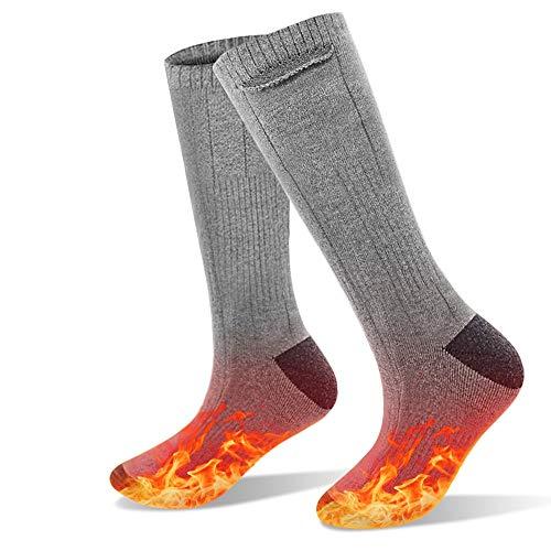 shine future Beheizbare Socken,Heizsocken Fußwärmer 3.7V 4000mAh, Fusswärmer Socken mit 3 Modus...