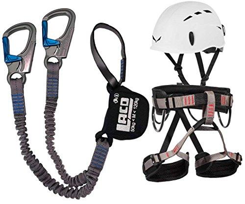 Klettersteigset LACD Ferrata Pro + LACD Gurt Start + Helm Salewa Toxo (M)