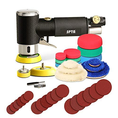 SPTA 25mm 50mm 80mm Exzenterschleifer Druckluft Winkelschleifer Poliermaschine/Polierer mit 23tlg...