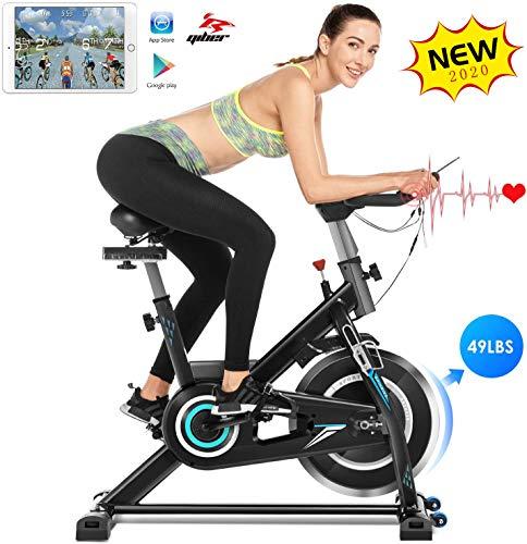 ANCHEER Heimtrainer Fahrrad, Ergometer Testsieger Hometrainer, Indoor Cycling Fitnessbike, Stufenlose...