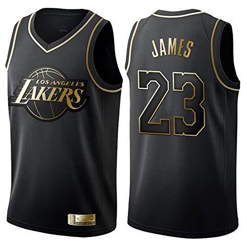 Herren Retro Basketball Uniform NBA Lakers 23# James Sommersport Trikot, Basketballhemd Klassisches...