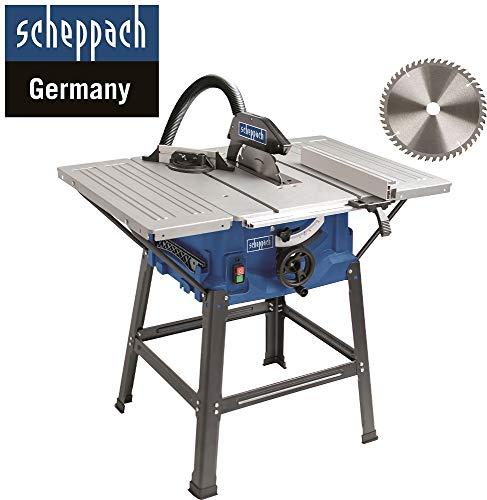 Scheppach HS 100 S Sonderedition Tischkreissäge – Kreissäge mit Feinschnitt Sägeblatt (2000 W, Sägeblatt...