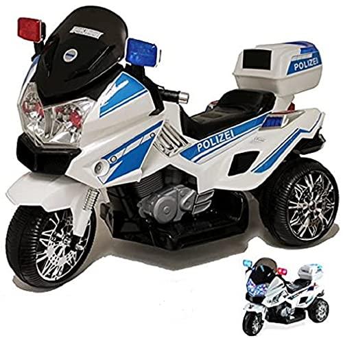 crooza Motorrad mit Polizei Stickern in Deutsch Kindermotorrad Roller Kinderfahrzeug (Polizei Sticker)