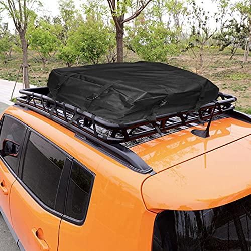 Dachkoffer Dachgepäckträger Tasche Faltbare Auto Gepäcktasche 600D wasserdichte Outdoor Auto Dachtasche...