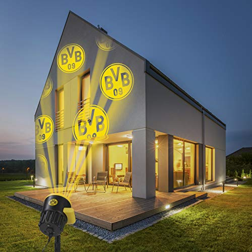 Borussia Dortmund Logo Projektor Fanartikel   LED-Motivstrahler BVB-Logo   Beleuchtung für Borussia Dortmund...