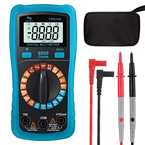 Digital Multimeter Tilswall mit 6000 Counts, Spannungsprüfer Strommessgerät Tragbare Messung für Zuhause,...