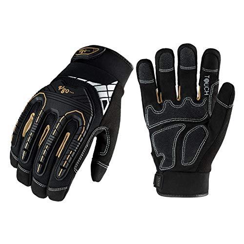 Vgo 3 Paare hohe Mechnische Arbeitshandschuhe, für große Belastungsarbeit, Vibration-Schutz-Handschuhe,...