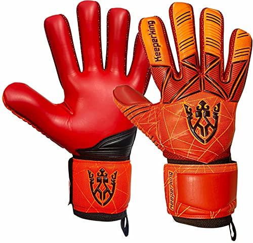 Keeperking Torwarthandschuhe Erwachsene Kinder Jugend mit und ohne Fingerschutz Fußballhandschuhe abnehmbar...