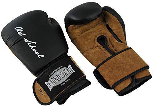 Bad Company Boxhandschuhe aus Leder I Modell Old School I Für das Boxtraining, Sparring und Wettkampf-Boxen I...