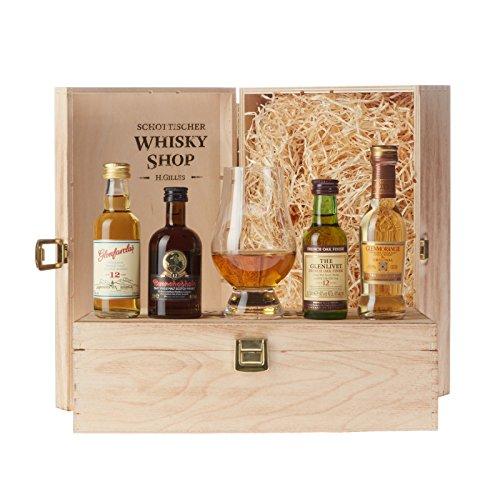 Set Bester Whisky - Gold-prämiert und ausgezeichnet - Glenmorangie The Original, Glenlivet 12, Bunnahabain...