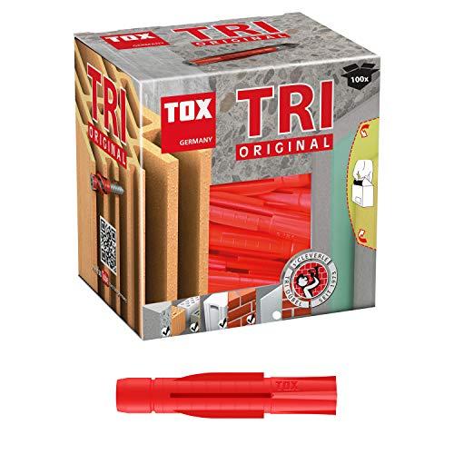 TOX 10100061, 6/51, KT Inhalt: 100 Stück Allzweckdübel Tri, 6x51 mm