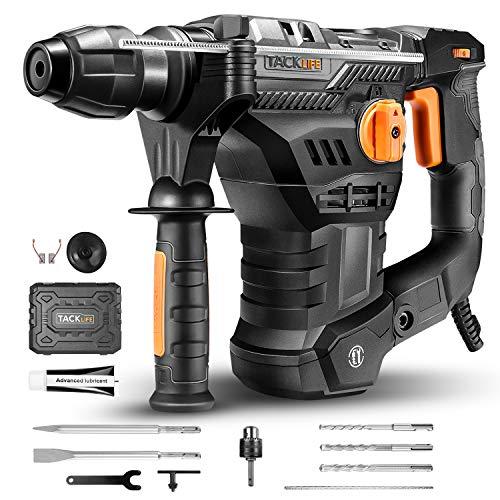 Bohrhammer, TACKLIFE 1500W Professional Abbruchhammer (SDS-Plus, 7J Schlagstärke, 4350BPM, 900RPM, 4...