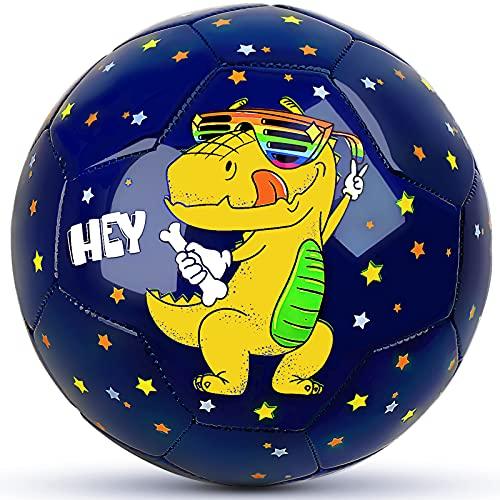 Champhox Kinder Fußball Ball Größe 3 mit Pumpe, Kinder-Sportball, Cartoon-Design, Kleinkinder, Freizeitball...