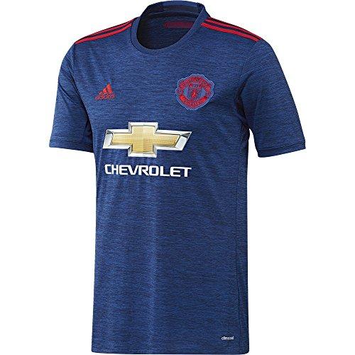 adidas Herren Fußball/Auswärts-trikot Manchester United Replica, Collegiate Royal/Real Red, XL
