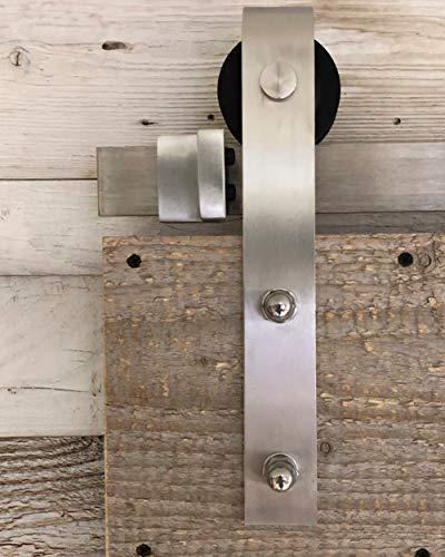 Barnwoodweb Schiebetürsystem Gerade Edelstahl 200cm Schiebetürbeschläge Gerade Komplett-Set für einen...