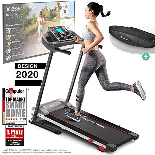 Sportstech F10 Laufband Modell 2020 - Deutsche Qualitätsmarke + Video Events & Multiplayer APP – NEUE...