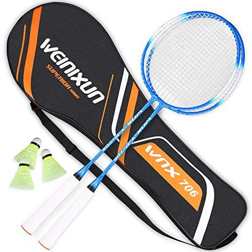 ZORARA Badminton Set Hochpräzise Ferrolegierung Profi Weinixun Badmintonschläger Federball Schläger Set...