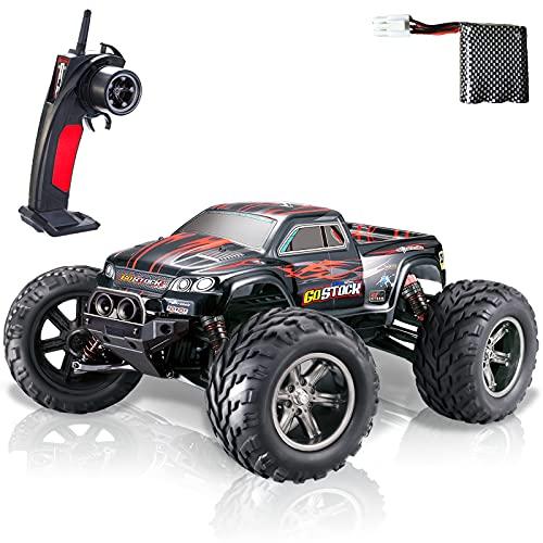 GoStock Ferngesteuertes Auto, 1:12 RC Auto 42 km/h Funkfernsteuerung Elektro Geländewagen Auto 2,4 GHz RC...