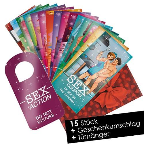 15 Sex Gutscheine Sex Karten für Paare - Sex Cards als Geschenk für Freund Freundin Paare - Erotische...