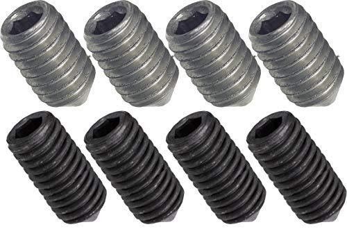 SECOTEC Madenschraube | Wurmschraube für Türdrücker M6x7 mm + M5x8 mm | je 4 Stück | vernickelt