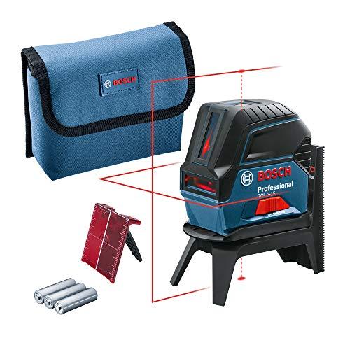 Bosch Professional Kreuzlinienlaser GCL 2-15 (roter Laser, Innenbereich, mit Lotpunkten, Arbeitsbereich: 15 m,...
