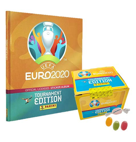 Panini E.URO 2020 Tournament Edition Sticker – 1x Hardcover Album + 1 Display je 100 Stickertüten...