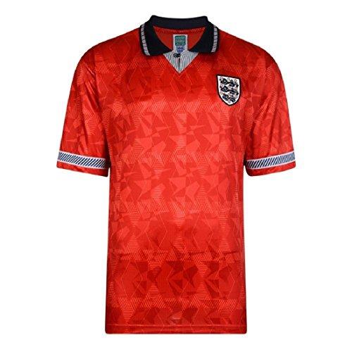 England WM1990 Away Retro Trikot (S, Red)
