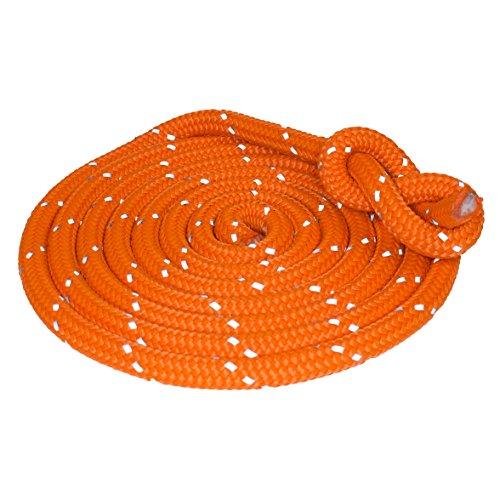 Hamburger Tauwerk Fabrik Outdoorseil ECO-Flash Orange mit refl. Kennfaden Seil Ø 10mm Länge: 10m