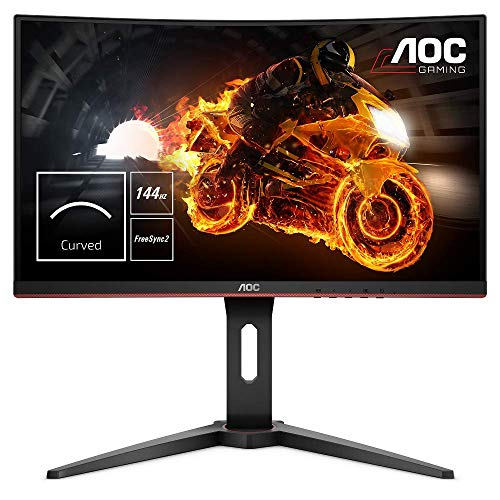 AOC Gaming C24G1 - 24 Zoll FHD Curved Monitor, 144 Hz, 1ms, FreeSync Premium, HDMI, DisplayPort) schwarz