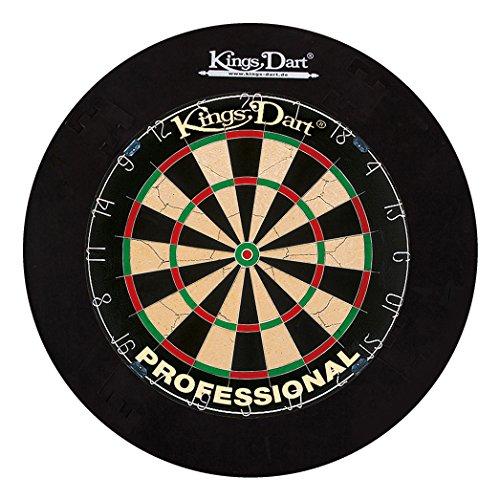 Kings Dart Dart-Set Profi | Turnier-Dartscheibe + Dart-Surround | Sisalborsten, Spider-Feldbegrenzung |...