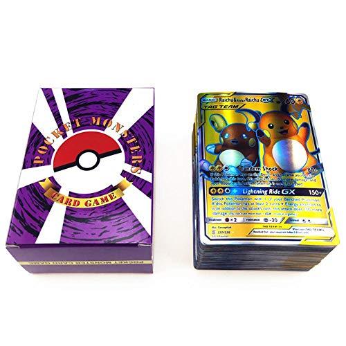 Wonderfulrita 120 Poke-Karten, Holo Ex, Full Art TCG Stil, inklusive 20 Mega-Karten, 20 GX Karten 80...