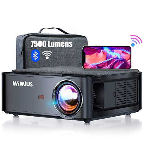 Beamer, WiMiUS 7500 L Full HD 1080P WiFi Bluetooth Beamer Unterstützung 4K Video, LED Heimkino Video Beamer...