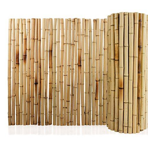 Floordirekt Bambus-Sichtschutzzaun | Vollrohr | Sichtschutz für Balkon, Terrasse oder Garten | Robust und...