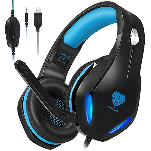 Stynice Gaming Headset - 50mm Treiber Crystal Clear Surround Sound Over Ear Gaming Kopfhörer mit Noise...