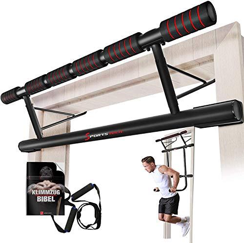 Sportstech Einzigartiges Kombi-Paket! 4in1 Klimmzugstange inkl Dip Bar & Power Ropes, klappbare Türreck...