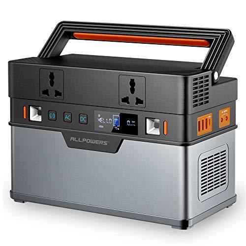 ALLPOWERS Tragbarer Powerstation 606Wh/164000mAh Hochleistungsakku Solar Generator 500W Batterie Mobiler...