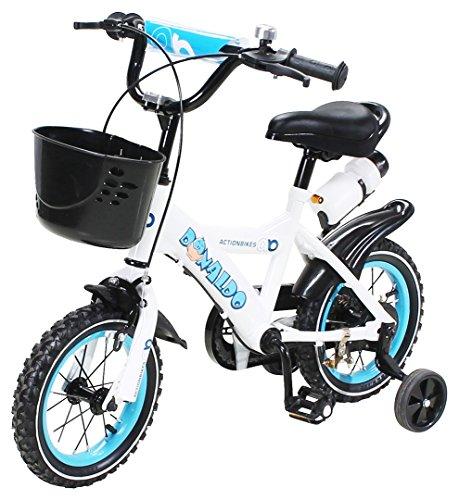 Actionbikes Kinderfahrrad Donaldo - 12 Zoll - V-Break Bremse vorne - Stützräder - Luftbereifung - Ab 2-5...