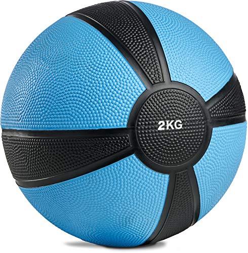 POWRX Medizinball Gewichtsball 1-10 kg | versch. Farben (2 kg)