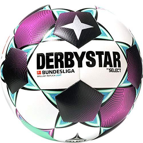 Derbystar Unisex Jugend Bundesliga Brillant Replica Light Fußball, Weiss Magenta Mint, 4