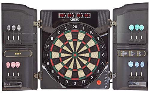 Best Sporting elektronische Dartscheibe Oxford 2.0, LED Dartboard Kabinett mit 12 Dartpfeilen, Ersatzsspitzen...