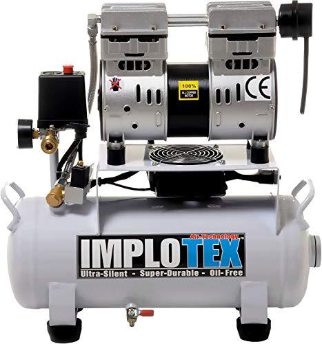 850W 14L Silent Flüsterkompressor Druckluftkompressor nur 55dB leise ölfrei flüster Kompressor Compressor...
