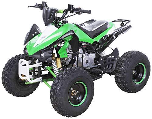 Kinder Quad S-12 125 cc Motor Miniquad Midiquad 125 ccm Panthera (Grün/Weiß)