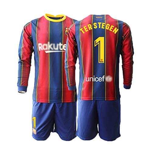 T-Shirt Set Fußball 2020-2021 Replica for Fußballfan Torwarttrikot 2020#1 TER Stegen Trikot Und Hose...